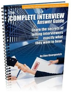 Complete Job Interview Answer Guide